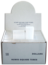 Numis Square Tubes for Large Dollars - Pack of 50