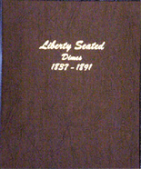 Dansco Album #6122 - Liberty Seated Dimes  1837-1891