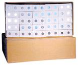 Cardboard 2x2s for Half Dollars - Pack of 100
