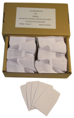 Archival Paper Coin Envelopes - White -Pack of 500
