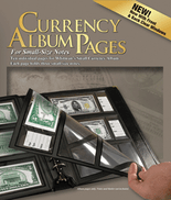 Whitman Album 10 Premium Currency Album Refill Pages - Small  Notes - Clear View Pages