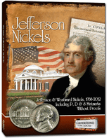 Cornerstone Album -Jefferson Nickels -1938-2011