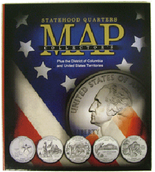 Whitman Compact Version State Quarters Collectors Map