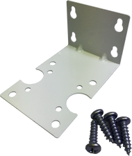 "9.5"" Bracket, Mounting, White Coated Steel w/screws"
