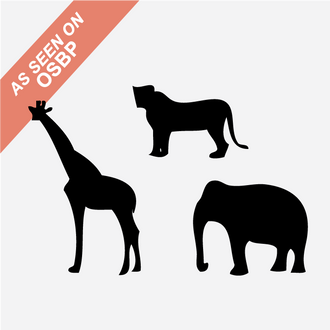 Animal Stamps, Set of 3