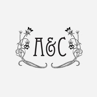 """Art Nouveau"" Initial Monogram Stamp"
