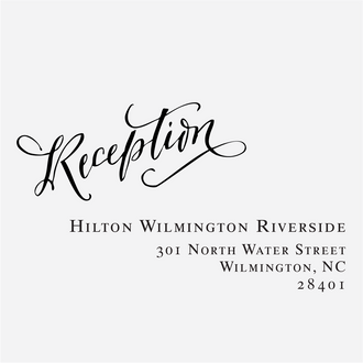 """""""Signature Calligraphy"""" Reception Card Stamp"""