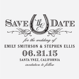 """Vintage West"" Save the Date Stamp"