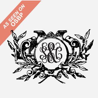 """Crest"" Monogram Stamp"