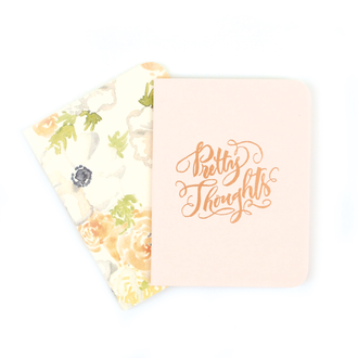 A2 Notebook Set, Blush and Natalia Floral