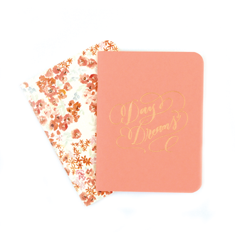 A2 Notebook Set, Coral and Paloma Floral