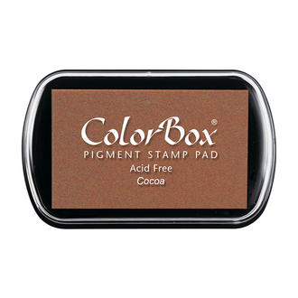 Color Box Stamp Pad, Pigment Ink, Cocoa