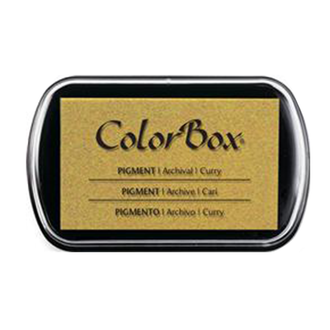 Color Box Stamp Pad, Pigment Ink, Curry