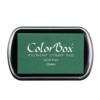 Color Box Stamp Pad, Pigment Ink, Green