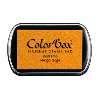 Color Box Stamp Pad, Pigment Ink, Mango Tango