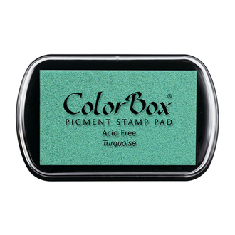 Color Box Stamp Pad, Pigment Ink, Turquoise