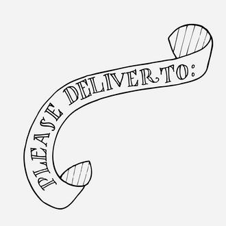 """Deliver To"" Banner Stamp"