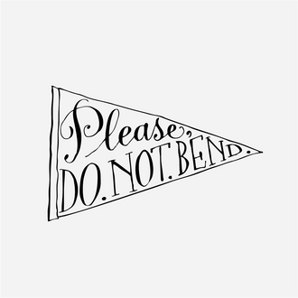 """Do Not Bend"" Envelope Stamp"