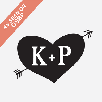 """Cross My Heart"" Initials Monogram Stamp"