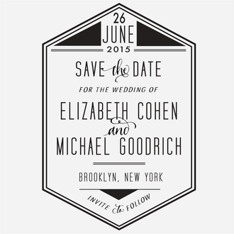 """""""GeoDeco"""" Save the Date Stamp"""