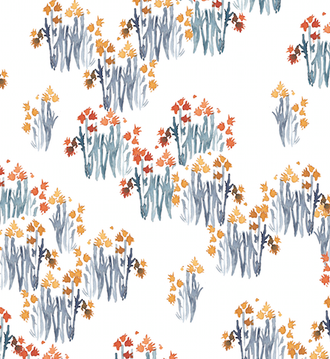 """Indian Paintbrush"" Floral Patterned Paper, 10 pack"