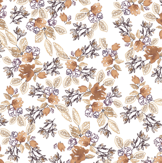 """Calico"", Autumn Floral Patterned Paper, 10 pack"