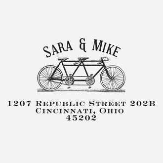 """Bicycle"" Return Address Stamp"