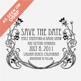 """""""Art Nouveau"""" Save the Date Stamp"""