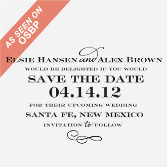 """""""Sophisticate"""" Save the Date Stamp"""