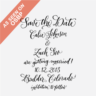 Calligraphy Save the Date Stamp No.2
