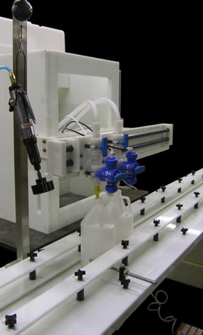 Gravity Filler liquid filling machine for low volume production