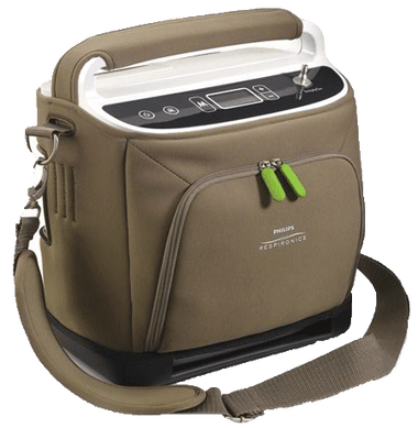 SimplyGo Portable Oyxgen Concentrator Shown in Case