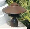 3 Tier Pagoda Post Light PPC351 (in scene, rust)