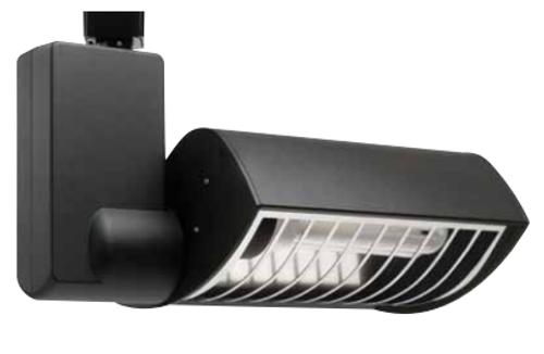 120v Compact Fluorescent Track Fixture Black CTPL1X2642