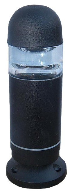 Mini LED Bollard Light PMSMLED-Black with Surface Mount