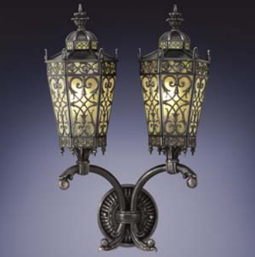 Wall Lights In Conservatory : Conservatory 2 Light Outdoor Wall Light 424081ST by Fine Art Lamps