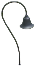 Shepards Hook Bell Shade Pathway Light PP236 (shown in black)