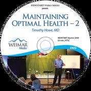 Maintaining Optimal Health - 2