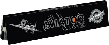 AVIATOR SLIM HEMP (109mm. X 44mm.) Paper Quality: 13.0 gsm  (Ultra Transparent Watermarked Paper) 32 Leaves per Booklet 50 Booklets per Box (THIS PRICE IS FOR A COMPLETE BOX OF 50 BOOKLETS)