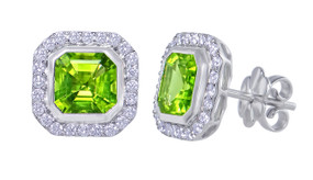 Gatward 1760 Collection - Peridot & Diamond Earrings