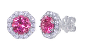 Gatward 1760 Collection - Pink Tourmaline & Diamond Earrings