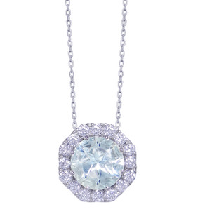 Gatward 1760 Collection - Aquamarine & Diamond Pendant