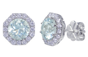 Gatward 1760 Collection - Aquamarine & Diamond Earrings
