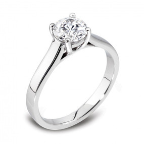 D Colour, Internally Flawless Diamond Solitaire Ring