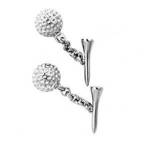 Nicole Barr  Golf Tee Cufflinks