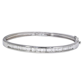 Baguette Diamond Bangle (£4250.00)