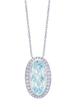 Gatward 1760 Collection - Aquamarine and Diamond Pendant