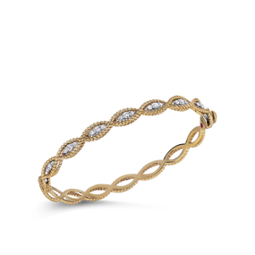 Roberto Coin 'Barocco' 18ct gold and diamond bangle (£3585.00)