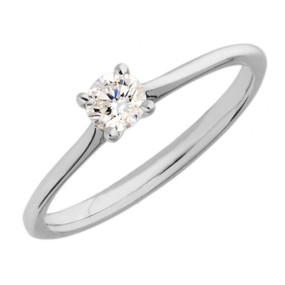 18ct White Gold and Diamond Solitaire Ring (From £890.00)