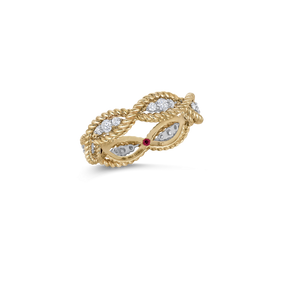 Roberto Coin 'Barocco' 18ct Yellow gold & Diamond Ring (£2075.00)